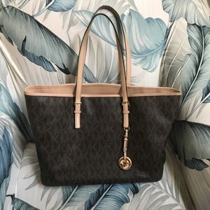 Michael Kors Large Brown Monogrammed Tote